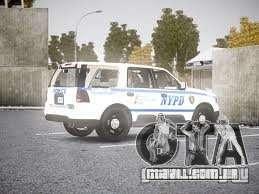 Ford Expedition Truck Enforcement para GTA 4 vista de volta