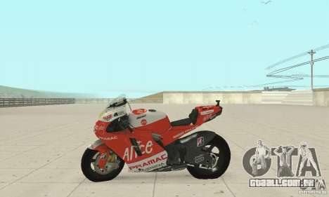 Ducati Alice GP para GTA San Andreas vista direita