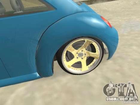VW Beetle 2004 para GTA San Andreas traseira esquerda vista