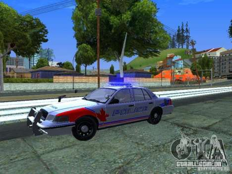 Ford Crown Victoria Police Patrol para GTA San Andreas vista traseira