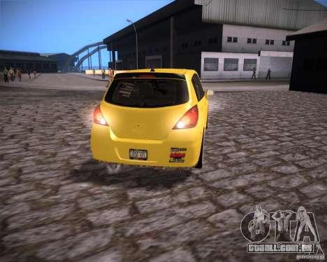 Nissan Versa Tuned para GTA San Andreas vista direita