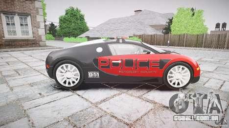 Bugatti Veyron 16.4 Police [EPM/ELS] para GTA 4 vista interior