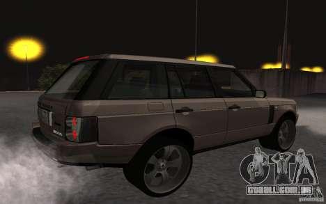 Land Rover Supercharged para GTA San Andreas vista direita
