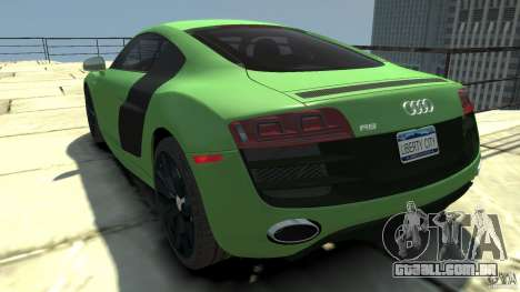 Audi R8 5.2 FSI quattro v1 para GTA 4 traseira esquerda vista