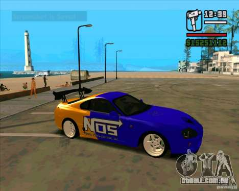 Toyota Supra Drift para GTA San Andreas esquerda vista