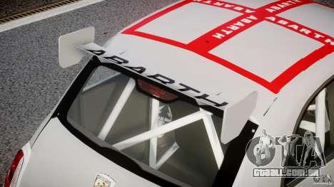 Fiat 500 Abarth para GTA 4 vista inferior