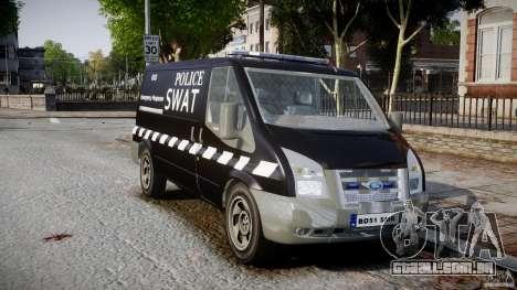 Ford Transit SWAT [ELS] para GTA 4 vista direita