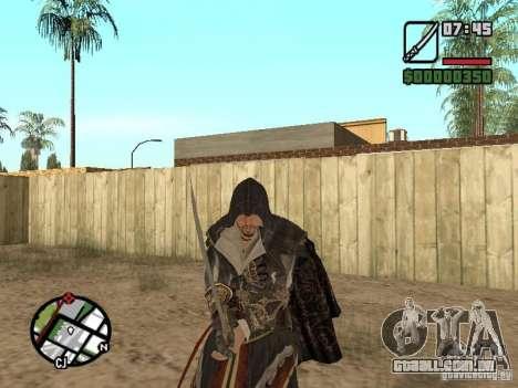 Espada Ezio para GTA San Andreas quinto tela