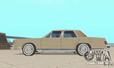 Mercury Grand Marquis LS 1986 para GTA San Andreas vista direita