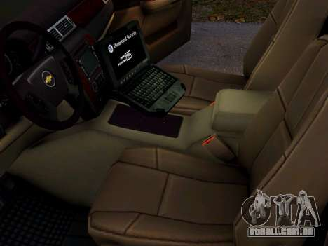 Chevrolet Tahoe Homeland Security para GTA 4 vista de volta