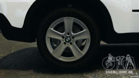 BMW X5 xDrive30i para GTA 4 vista superior