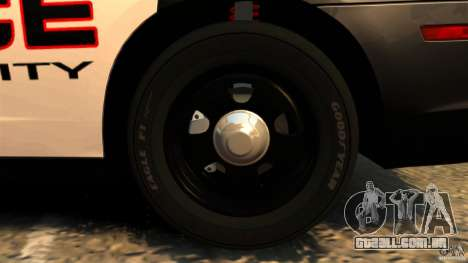 Dodge Charger RT Max Police 2011 [ELS] para GTA 4 vista inferior