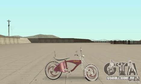 Lowrider Bicycle Custom Version para GTA San Andreas traseira esquerda vista