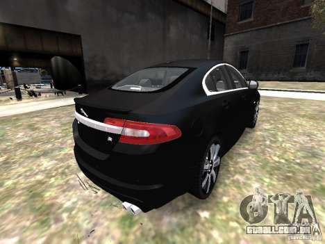 Jaguar XFR para GTA 4 vista de volta