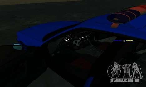 BMW M5 POLICE para GTA San Andreas vista superior