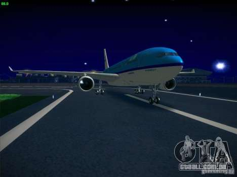 Airbus A330-200 KLM Royal Dutch Airlines para GTA San Andreas traseira esquerda vista
