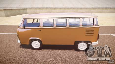 Volkswagen Kombi Bus para GTA 4 vista de volta