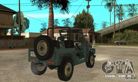 Suzuki Jimny para GTA San Andreas vista direita
