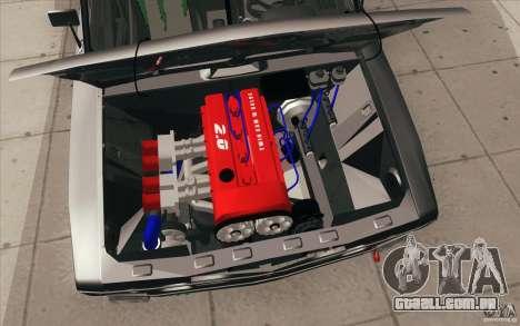 VAZ 2106 Lada Drift afinado para GTA San Andreas interior