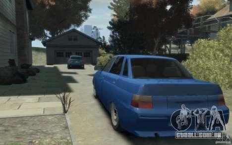 Lada VAZ 2110 para GTA 4 traseira esquerda vista
