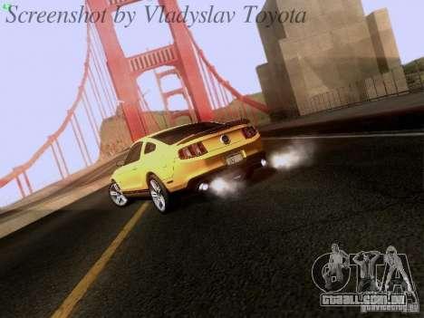 Ford Mustang GT 2011 para GTA San Andreas vista direita