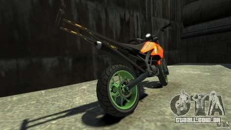 Stunt Supermotard Sanchez para GTA 4 traseira esquerda vista