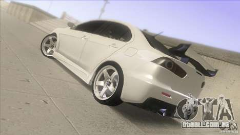 Mitsubishi Lancer Evo IX DIM para GTA San Andreas esquerda vista