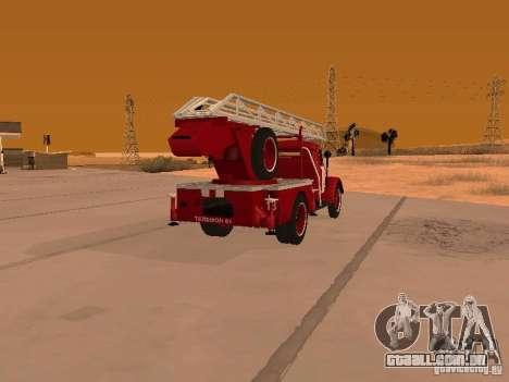 GAZ-51 ALG-17 para GTA San Andreas traseira esquerda vista
