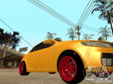 Kia Cerato Coupe JDM para GTA San Andreas traseira esquerda vista