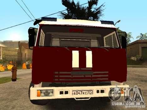 KAMAZ 43253 Rozenbauer para GTA San Andreas vista direita
