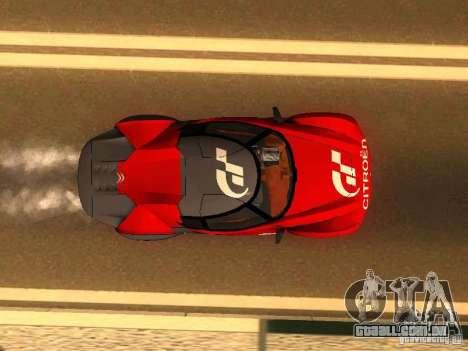 Citroen GT Gran Turismo para GTA San Andreas vista traseira