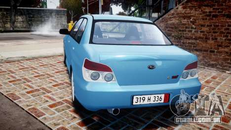 Subaru Impreza WRX STI Spec C Type RA-R 2007 para GTA 4 traseira esquerda vista