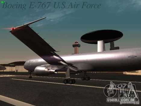 Boeing E-767 U.S Air Force para as rodas de GTA San Andreas