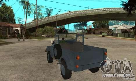 ARO Simple para GTA San Andreas traseira esquerda vista