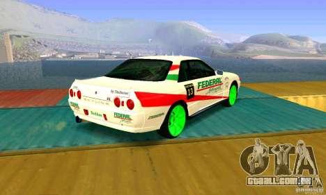 Nissan Skyline GT-R32 BadAss para GTA San Andreas esquerda vista