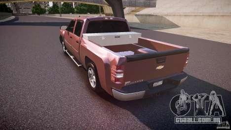 Chevrolet Silverado 1500 v1.3 2008 para GTA 4 traseira esquerda vista
