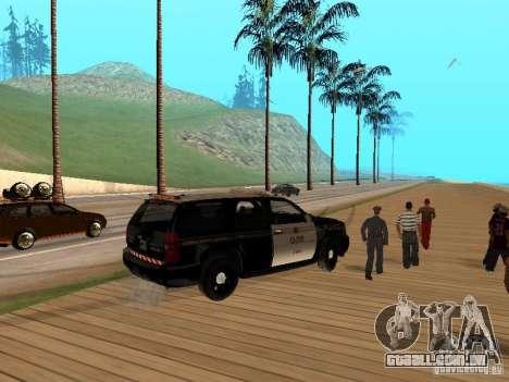 Chevrolet Tahoe Ontario Highway Police para GTA San Andreas vista direita