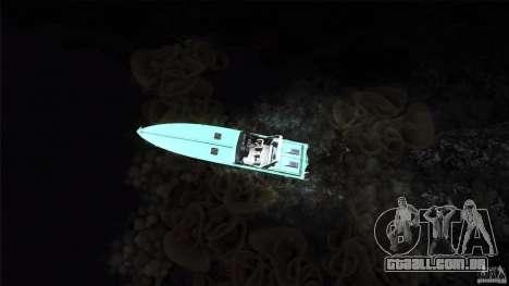 Wellcraft 38 Scarab KV para GTA San Andreas vista traseira
