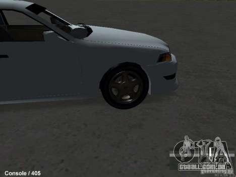 Toyota Mark II 100 1JZ-GTE para GTA San Andreas vista direita