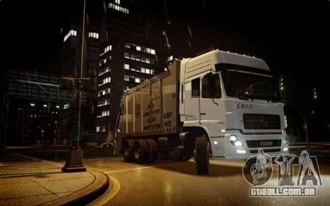 Dongfeng Denon Garbage Truck para GTA 4 vista direita