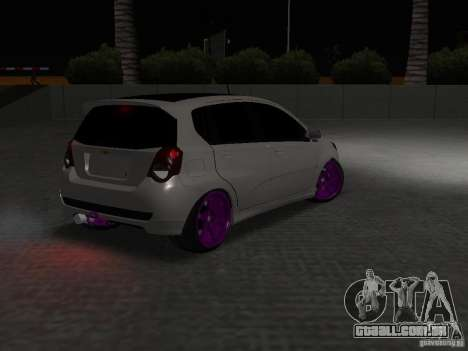 Chevrolet Aveo Tuning para GTA San Andreas vista traseira