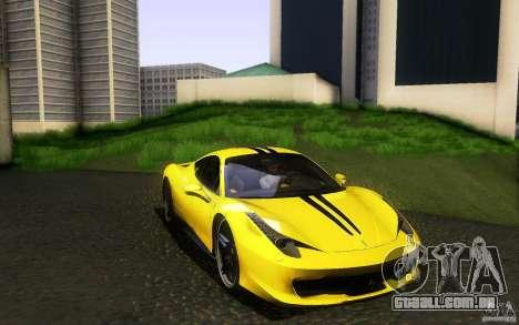 Ferrari 458 Italia Final para GTA San Andreas interior
