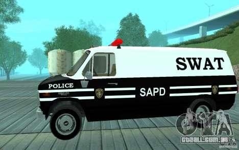 Chevrolet G20 Enforcer para GTA San Andreas traseira esquerda vista