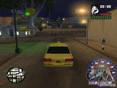 Neon Style Speedometr para GTA San Andreas segunda tela