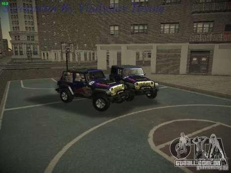 Jeep Wrangler Red Bull 2012 para GTA San Andreas vista direita