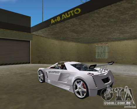 Cadillac Cien Shark Dream TUNING para GTA Vice City deixou vista