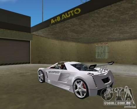 Cadillac Cien Shark Dream TUNING para GTA Vice City deixou vista