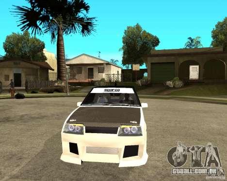 VAZ 2108 extremo para GTA San Andreas vista traseira
