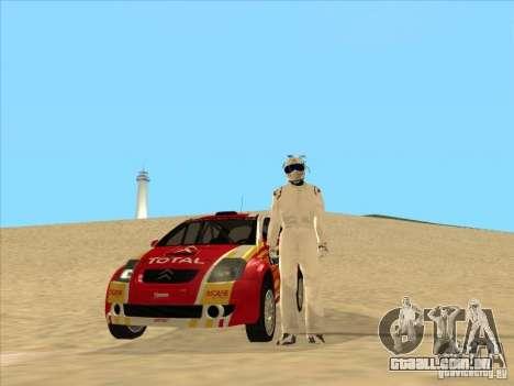 Citroen Rally Car para GTA San Andreas vista traseira