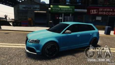 Audi RS3 Sportback V1.0 para GTA 4 esquerda vista